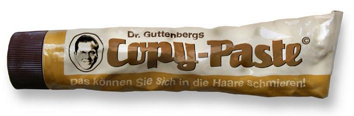Dr. Guttenberg Copy-Paste - das können Sie sich in die Haare schmieren